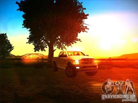 Dodge Ram Heavy Duty 2500 для GTA San Andreas вид сзади