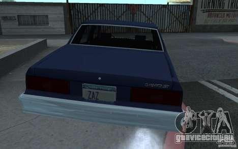 1983 Chevrolet Impala для GTA San Andreas вид слева