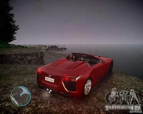 Lexus LF-A Roadster для GTA 4 вид слева