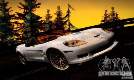 Chevrolet Corvette ZR-1 для GTA San Andreas двигатель