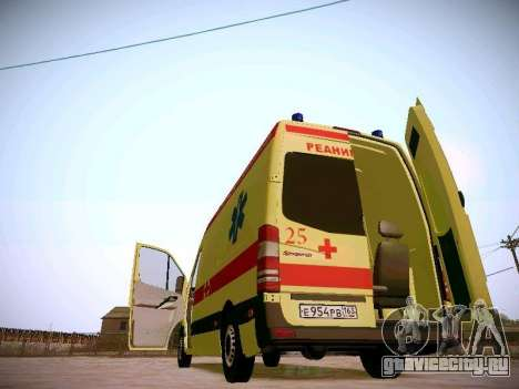 Mercedes Benz Sprinter Ambulance для GTA San Andreas вид сверху