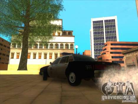 Chevrolet Caprice Interceptor LAPD 1986 для GTA San Andreas вид сзади слева