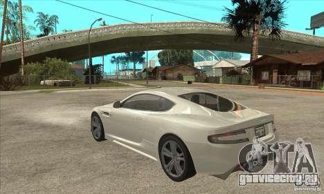 Aston Martin DBS для GTA San Andreas вид сзади слева