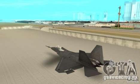 YF-22 Black для GTA San Andreas вид сзади слева