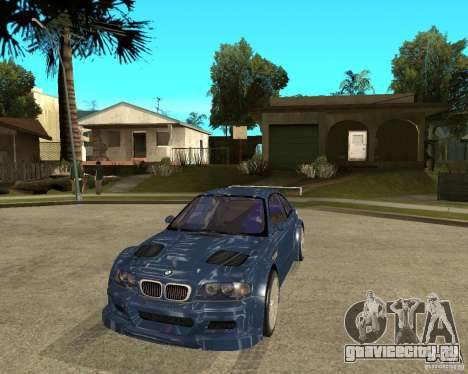 BMW M3 GTR из Need for Speed Most Wanted для GTA San Andreas вид сзади