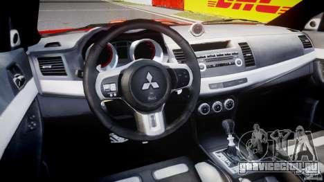 Mitsubishi Lancer Evo X 2011 для GTA 4 вид справа