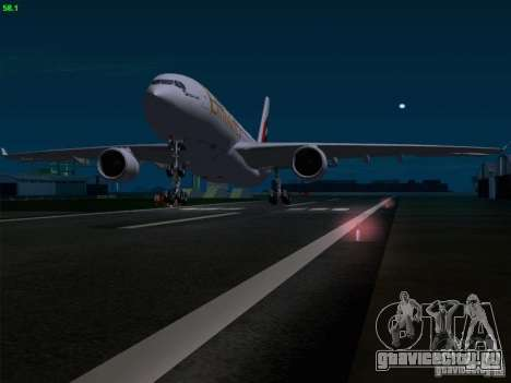 Airbus A330-200 Emirates для GTA San Andreas салон