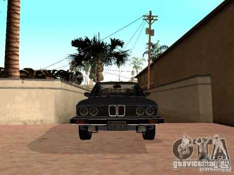 BMW 535is E28 для GTA San Andreas вид сзади слева