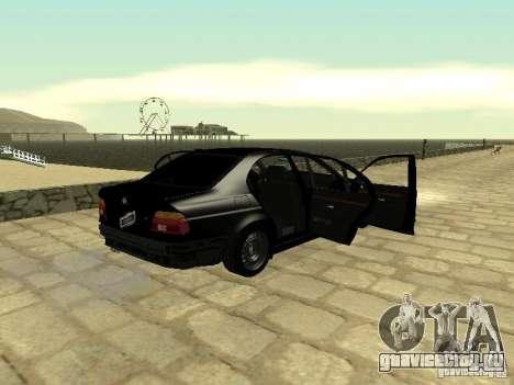 BMW M5 для GTA San Andreas вид изнутри