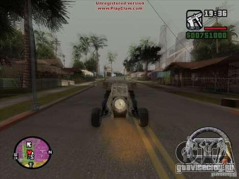 Turbo car v.2.0 для GTA San Andreas вид изнутри