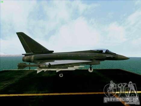Eurofighter-2000 Typhoon для GTA San Andreas вид справа