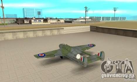 De-Havilland-Vampire ver 2.0 для GTA San Andreas вид сзади слева