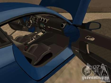 Audi TT RS для GTA San Andreas вид изнутри