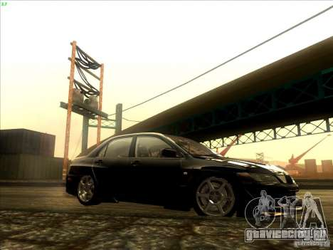 Mitsubishi Lancer Evolution VIII Full Tunable для GTA San Andreas вид изнутри