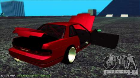Nissan Onivia для GTA San Andreas вид изнутри