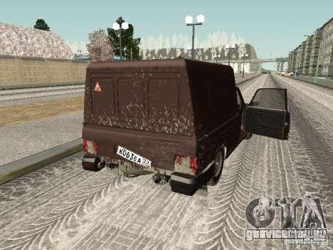 ИЖ 27175 Зимняя версия для GTA San Andreas вид изнутри
