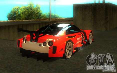Nissan Skyline R35 GTR для GTA San Andreas двигатель