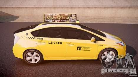 Toyota Prius LCC Taxi 2011 для GTA 4 вид сверху