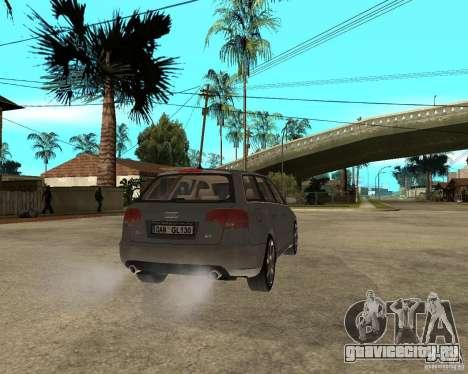 Audi A4 2005 Avant 3.2 quattro для GTA San Andreas вид сзади слева
