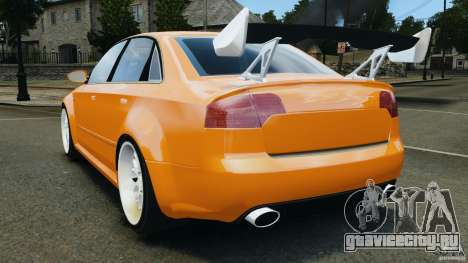 Audi RS4 EmreAKIN Edition для GTA 4 вид сзади слева