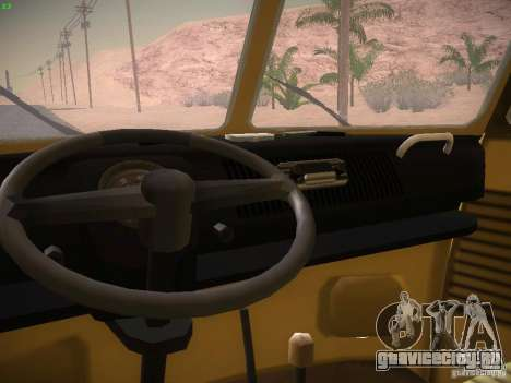 Volkswagen Type 2 Custom для GTA San Andreas вид сзади