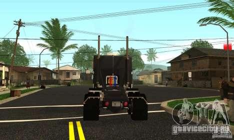 Peterbilt 362 Cabover для GTA San Andreas вид сзади слева