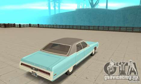 Chrysler New Yorker 4 Door Hardtop 1971 для GTA San Andreas вид слева