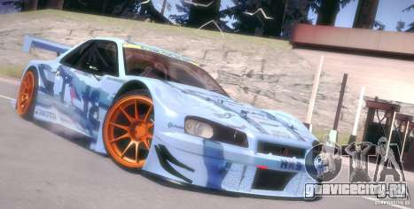 Nissan Skyline Touring R34 Blitz для GTA San Andreas