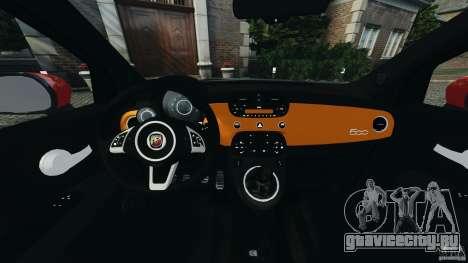 Fiat 500 Abarth для GTA 4 вид сзади