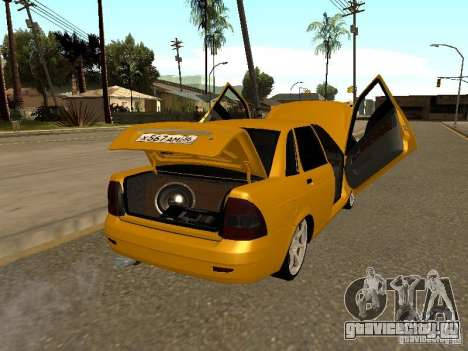 ВАЗ 2170 Приора для GTA San Andreas вид сбоку