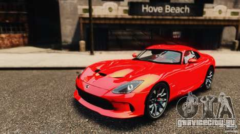 Dodge Viper GTS 2013 для GTA 4 вид сзади