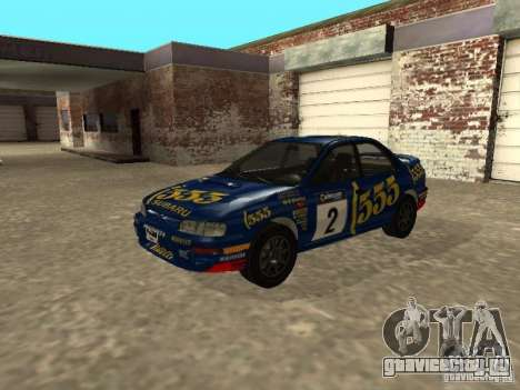 Subaru Impreza WRX STI 1995 для GTA San Andreas двигатель