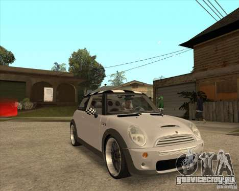 Mini Cooper для GTA San Andreas вид сзади