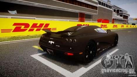 Koenigsegg CCXR Edition для GTA 4 вид сбоку