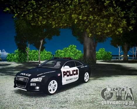 Audi S5 Police для GTA 4 вид справа