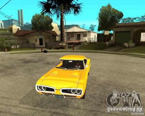 Dodge Coronet Super Bee 70 для GTA San Andreas вид сзади