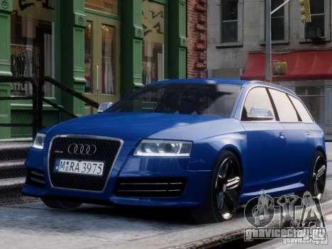 Audi RS6 Avant для GTA 4 вид справа