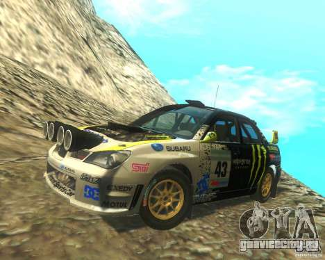 Subaru Impreza WRX STI DIRT 2 для GTA San Andreas салон