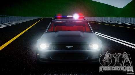 Ford Mustang V6 2010 Police v1.0 для GTA 4 салон