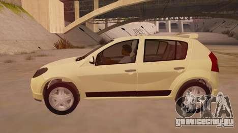 Renault Sandero для GTA San Andreas вид слева