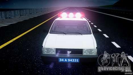 Tofas Sahin Turkish Police v1.0 для GTA 4 вид сверху