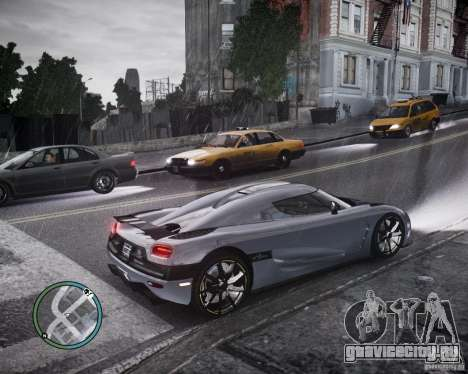 Koenigsegg Agera для GTA 4 вид изнутри