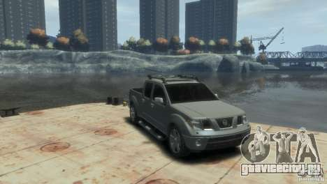 Nissan Frontier для GTA 4 вид сзади слева