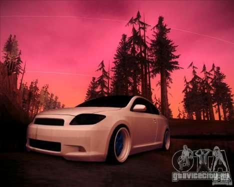 Scion tC Blue Meisters для GTA San Andreas вид слева