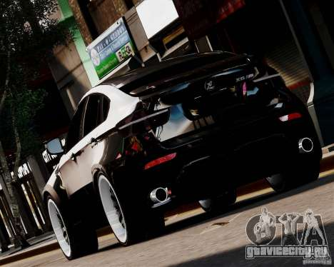 BMW X6 Tuning v1.0 для GTA 4 вид сзади слева