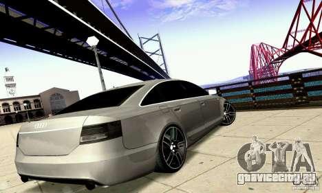 Audi A6 Blackstar для GTA San Andreas вид снизу
