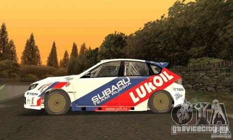 Subaru Impreza WRX STi Russia Rally для GTA San Andreas вид слева