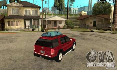 Ford Explorer 2004 для GTA San Andreas вид справа