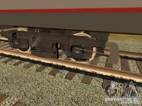 Пассажирский вагон РЖД v2.0 для GTA San Andreas вид сзади слева