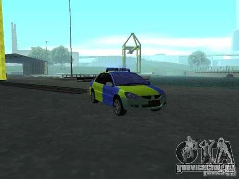 Mitsubishi Lancer Полиция для GTA San Andreas